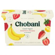 Chobani Strawberry Banana On the Bottom Greek Yogurt