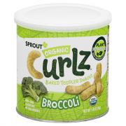 Sprout Organic Broccoli Curlz Baked Toddler Snacks