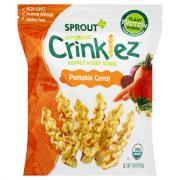 Sprout Organic Crinklez Popped Veggie Snack Pumpkin Carrot