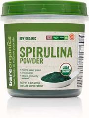 Bare Organics Raw Spirulina Powder