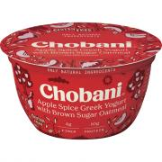 Chobani Apple Spice Greek Yogurt with Brown Sugar Oatmeal