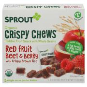Sprout Organic Crispy Chews Red Fruit Beet & Berry with