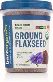 Bare Organics Raw Cold Milled Ground Flaxseed