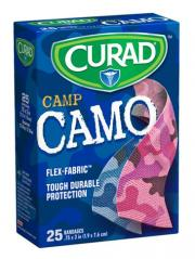 CURAD Camp Camo Blue and Pink Bandages