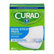 """Curad 8"""" x 3"""" Non-Stick Pads"""