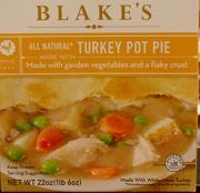 Blake's Turkey Pot Pie w/Vegetables