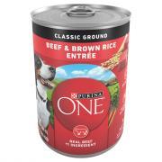 Purina ONE Beef & Brown Rice Can Dog Food