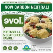 Evol Portabella and Goat Cheese Ravioli