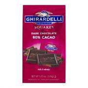 Ghirardelli 60% Dark Chocolate Square Stand Up Bag