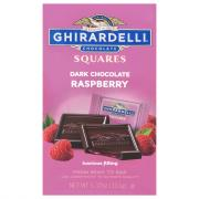 Ghirardelli Dark Chocolate Squares with Raspberry