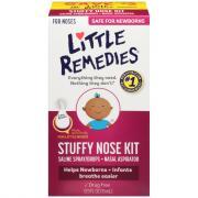 Little Remedies Stuffy Nose Kit, Saline Spray Drops