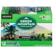 Green Mountain Organics Sumatran Reserve Xtra Bold K-Cups