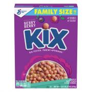 General Mills Berry Berry Kix Cereal Family Size