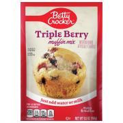Betty Crocker Triple Berry Pouch Muffin Mix