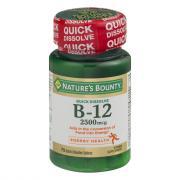 Nature's Bounty Quick Dissolve B-12 2500meg Cherry Flavor