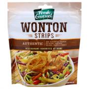 Fresh Gourmet Crunchy Toppings Authentic Won Ton Strips