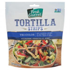 Fresh Gourmet Tri-color Tortilla Strips Topping