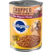 Pedigree Traditional Ground Beef Dinner w/Filet Mignon