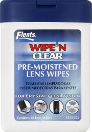 Flents Wipe & Clear Lens Wipes Canister