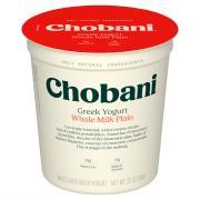 Chobani Whole Milk Plain Greek Yogurt