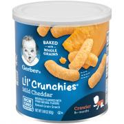 Gerber Graduates Lil' Crunchies Mild Cheddar Corn Snacks