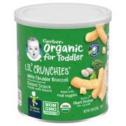 Gerber Organic Lil' Crunchies White Cheddar Broccoli Snack