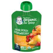 Gerber 2nd Foods Organic Pear, Peaches & Strawberries