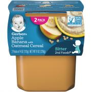 Gerber 2nd Foods Oatmeal with Applesauce & Bananas