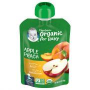 Gerber 2nd Foods Organic Apples & Summer Peaches