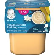 Gerber 2nd Foods Vanilla Custard Pudding with Bananas