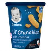 Gerber lil' Crunchies Mild Cheddar Baked Corn Snacks