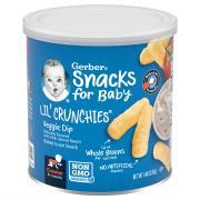 Gerber Graduates Lil' Crunchies Veggie Dip Corn Snacks