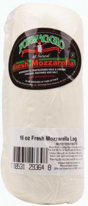 Formaggio Pre-Sliced Mozzarella Log
