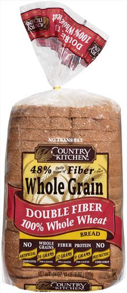 Country Kitchen 100% Whole Wheat Double Fiber Bread