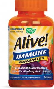 Nature's Way Alive! Immune Gummies Grape/Cherry Flavors