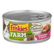 Friskies Farm Favorites Pate with Salmon & Spinach