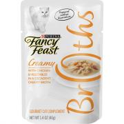 Fancy Feast Broths Creamy with Chicken and Vegetables