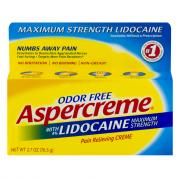 Aspercreme with Lidocaine Odor Free