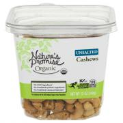 Nature's Promise Organic Unsalted Cashews