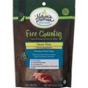 Nature's Promise Free Country Roasted Duck Strip Dog Treats