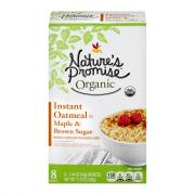 Nature's Promise Organic Maple Brown Sugar Instant Oatmeal