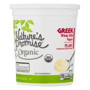 Nature's Promise Organic Greek Whole Milk Plain Yogurt