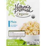 Nature's Promise Organic Plain Microwave Popcorn