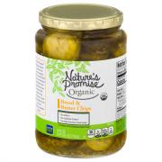 Nature's Promise Organic Bread & Butter Pickle Chips