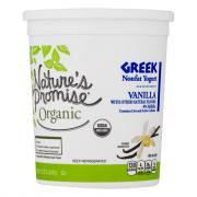 Nature's Promise Organic Vanilla Nonfat Greek Yogurt