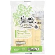 Nature's Promise Organic Mozzarella String Cheese