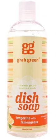 Grab Green Tangerine with Lemongrass Liquid Dish Soap