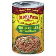 Old El Paso Refried Beans With Green Chilis