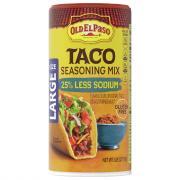 Old El Paso Taco Seasoning Mix 25% Less Sodium