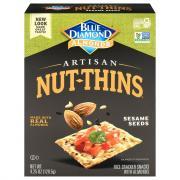 Blue Diamond Almonds Artisan Sesame Seed Nut Thins